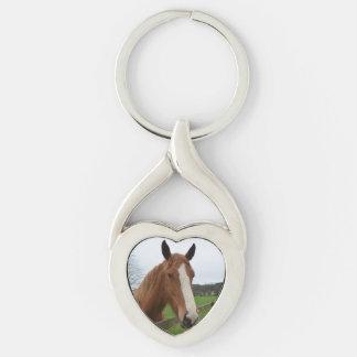 Lovable Quarter Horse Keychain