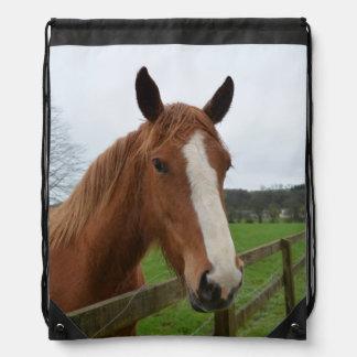 Lovable Quarter Horse Drawstring Bags