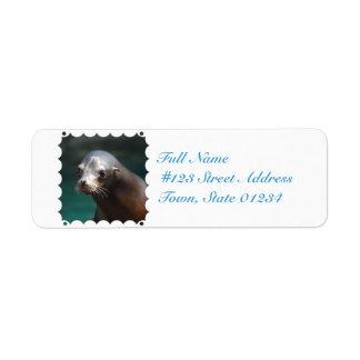 Lovable Sea Lion Return Address Label