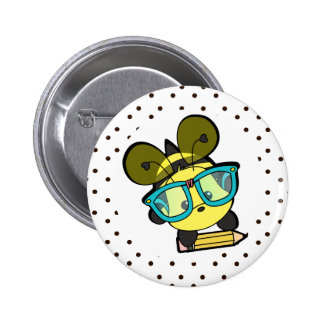 Lovable Smarty Bee Pinback Button