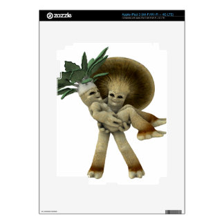 Lovable Vegetables - Carry me home iPad 3 Decal