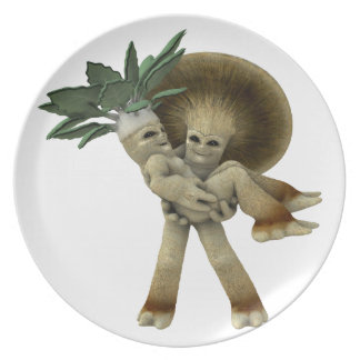 Lovable Vegetables - Carry me home Melamine Plate