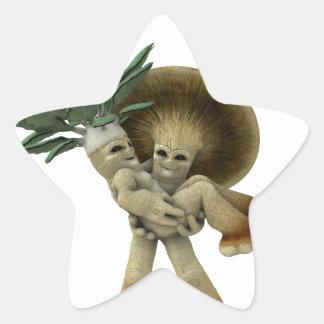 Lovable Vegetables - Carry me home Star Sticker