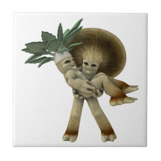 Lovable Vegetables - Carry me home Tile