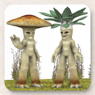 Lovable Vegetables - Waving Drink Coaster