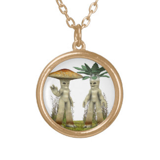Lovable Vegetables - Waving Gold Plated Necklace