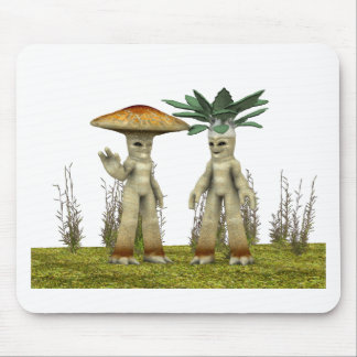 Lovable Vegetables - Waving Mouse Pad