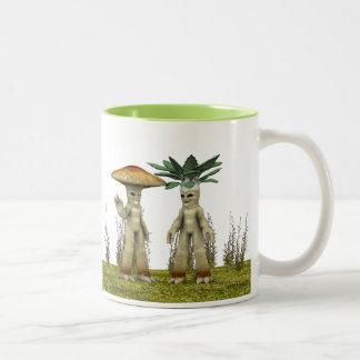 Lovable Vegetables - Waving Two-Tone Coffee Mug