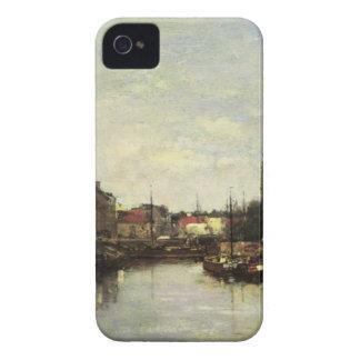 Lovaina el canal de Bruselas, de Eugene Boudin Case-Mate iPhone 4 Carcasa