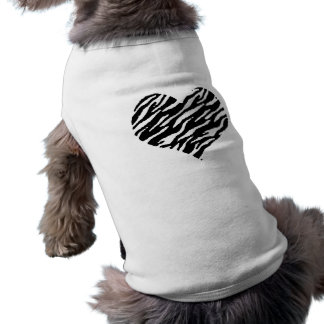 love057 - negro y blanco playera sin mangas para perro