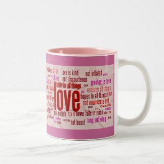 love13 cloth hearts, love13 cloth hearts Two-Tone coffee mug