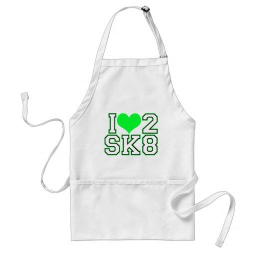 Love2SK8-Black & Lime Adult Apron