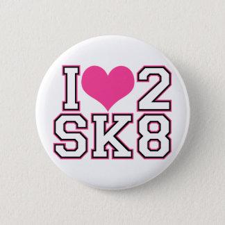 Love2SK8 - Black & Pink Pinback Button