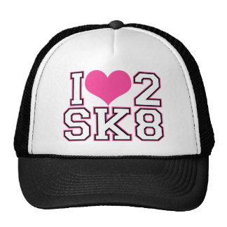 Love2SK8 - Negro y rosa Gorra
