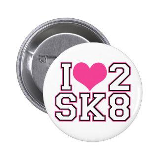 Love2SK8 - Negro y rosa Pins