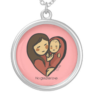 love4mommy, No Greater Love Silver Plated Necklace
