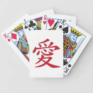 LOVE 愛 - Chinese and Japanese caligraphy Bicycle Playing Cards