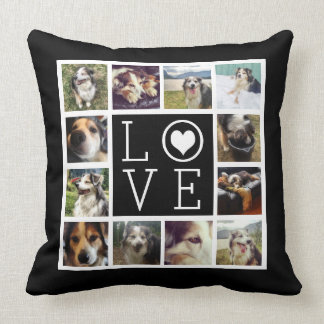 LOVE 12 Instagram Photo Collage Throw Pillows