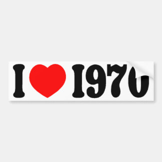 LOVE 1970 BUMPER STICKER