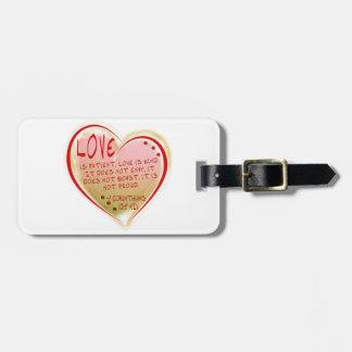 LOVE 1 Corinthians 13 :4 NIV Luggage Tag
