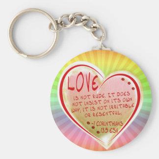 LOVE 1 Corinthians 13 :5 ESV Keychain
