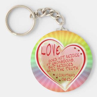 LOVE 1 Corinthians 13 :6 ESV Keychain