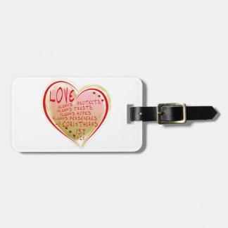 LOVE 1 Corinthians 13 :7 NIV FAITH HOPEFUL Luggage Tag