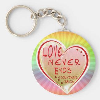LOVE 1 Corinthians 13 :8 ESV LOVE NEVER ENDS Keychain