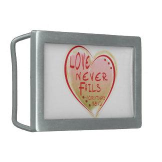 LOVE 1 Corinthians 13 :8 NIV LOVE NEVER FAILS! Belt Buckle