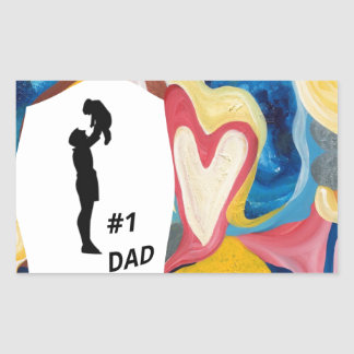 Love #1 Dad Rectangular Sticker