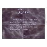 Love 1 John 4-18 Card