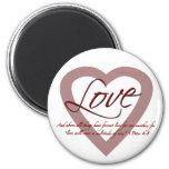 Love 1 Peter 4:8 Fridge Magnets