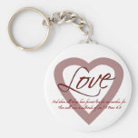 Love 1 Peter 4:8 Key Chains