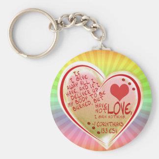 LOVE 1Corinthians 13 :3 ESV Keychain