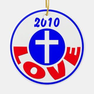 Love 2010 ceramic ornament