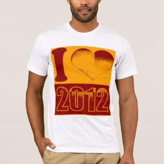 Love 2012 - crimson, gold Pop Art Vintage T-Shirt