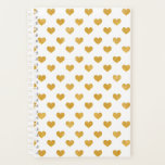 "Love 2018 White - Golden heart Planner<br><div class=""desc"">Design by LEMAT WORKS https://zazzle.com/lematworks*/collections https://lematworks.myportfolio.com</div>"