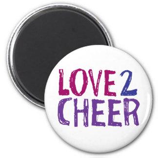 Love 2 Cheer 2 Inch Round Magnet