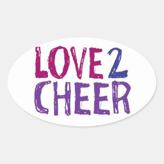 Love 2 Cheer Oval Sticker