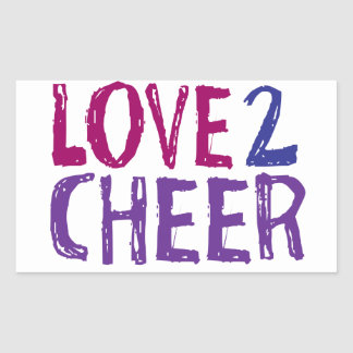 Love 2 Cheer Rectangular Sticker