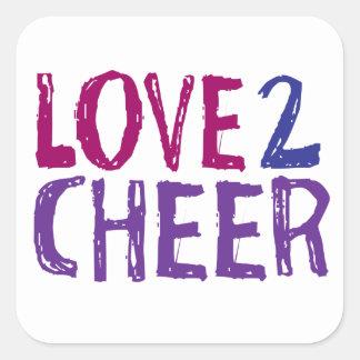 Love 2 Cheer Square Sticker