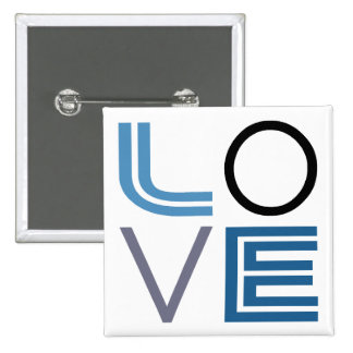 LOVE 2 INCH SQUARE BUTTON