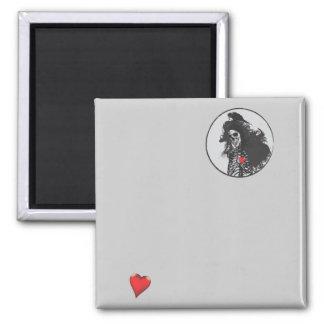 Love 2 Inch Square Magnet