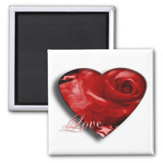 Love 2 Inch Square Magnet