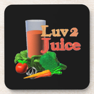 Love 2 Juice juicing design on 100+ Drink Coaster