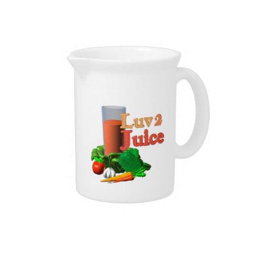 Love 2 Juice juicing design on 100+ Pitcher