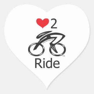Love 2 ride heart sticker