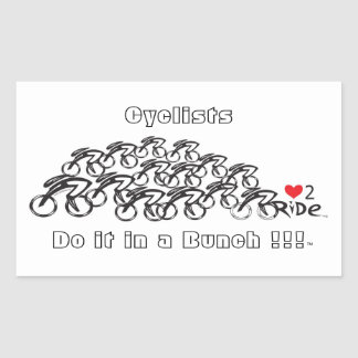 love 2 ride rectangular sticker