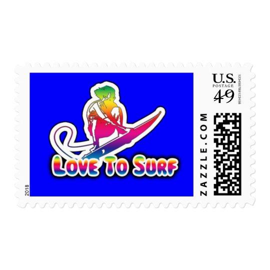 Love 2 Surf Postage