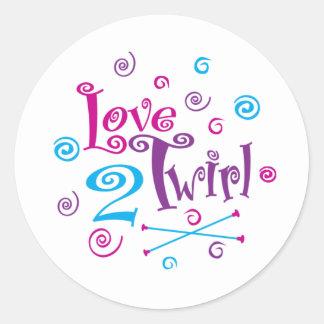Love 2 Twirl Classic Round Sticker